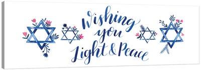 Boho Hanukkah Collection D Canvas Art Print