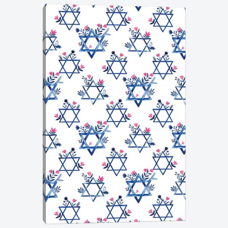 Boho Hanukkah Collection E Canvas Print #POP1614} by Grace Popp Art Print