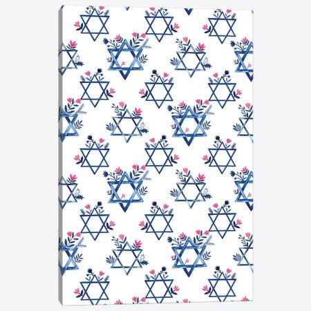 Boho Hanukkah Collection E Canvas Print #POP1614} by Grace Popp Art Print
