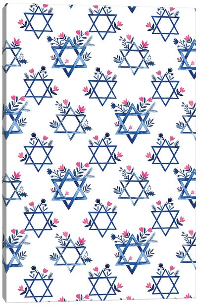 Boho Hanukkah Collection E Canvas Art Print