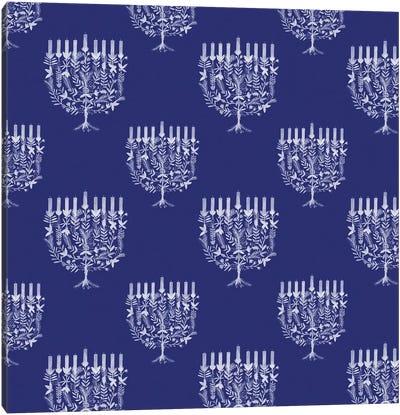 Boho Hanukkah Collection F Canvas Art Print