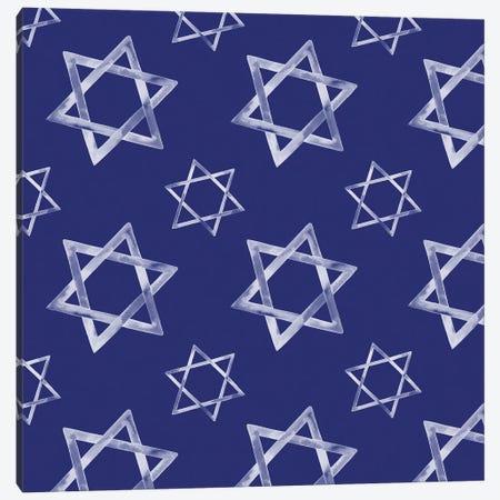 Boho Hanukkah Collection H Canvas Print #POP1617} by Grace Popp Art Print
