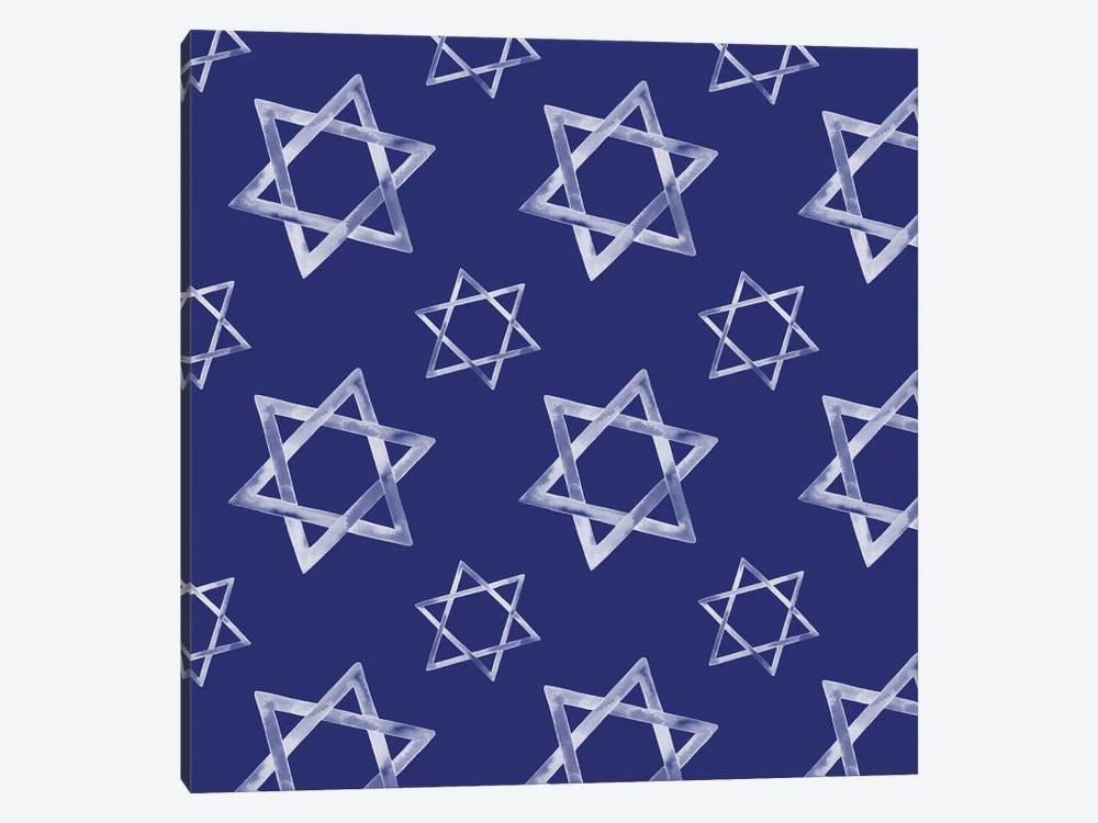 Boho Hanukkah Collection H by Grace Popp 1-piece Canvas Art Print