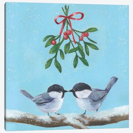 Chickadee Christmas Collection A Canvas Print #POP1620} by Grace Popp Canvas Art Print