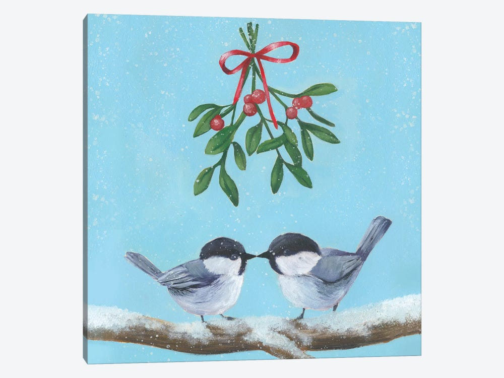 Chickadee Christmas Collection A by Grace Popp 1-piece Canvas Art Print