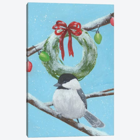Chickadee Christmas Collection F Canvas Print #POP1623} by Grace Popp Art Print