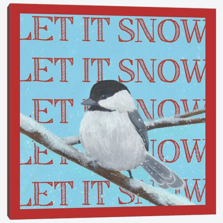 Chickadee Christmas Collection G Canvas Print #POP1624} by Grace Popp Canvas Wall Art