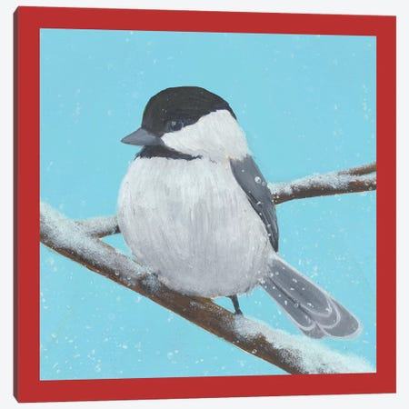 Chickadee Christmas Collection I Canvas Print #POP1626} by Grace Popp Canvas Wall Art
