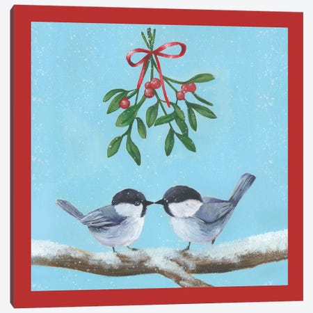Chickadee Christmas Collection K Canvas Print #POP1628} by Grace Popp Canvas Print