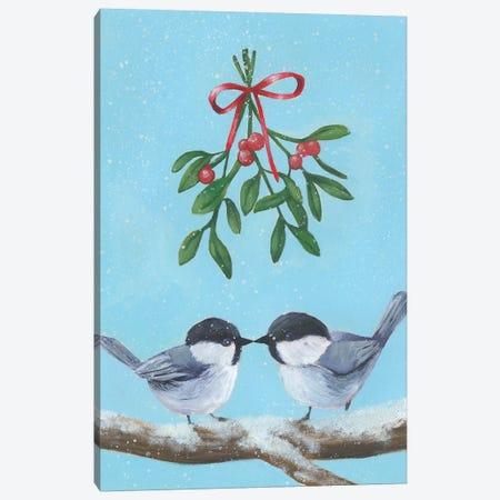 Chickadee Christmas I 2-Up Canvas Print #POP1630} by Grace Popp Canvas Artwork