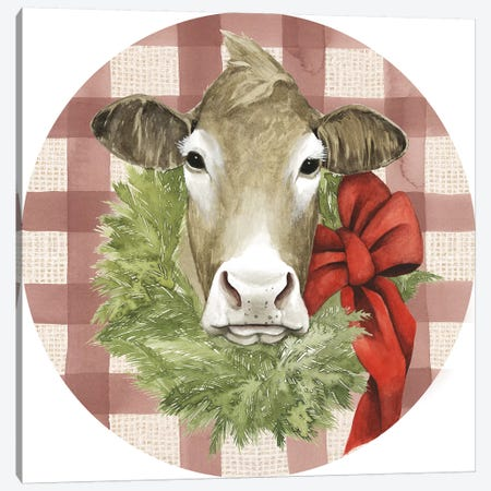 Christmas on the Farm Collection G Canvas Print #POP1652} by Grace Popp Canvas Wall Art