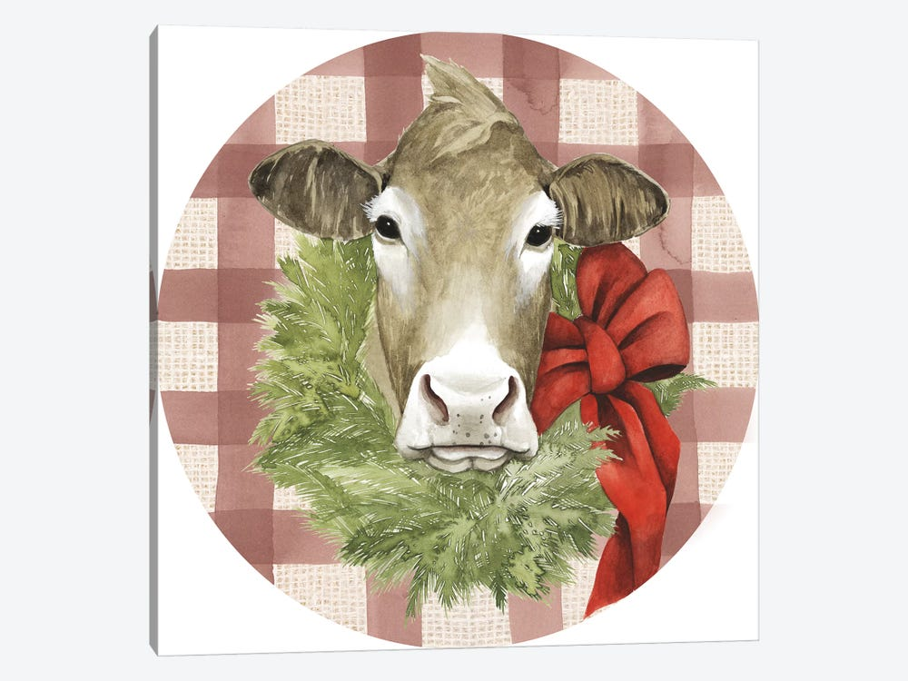Christmas on the Farm Collection G by Grace Popp 1-piece Canvas Art