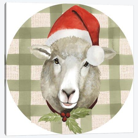 Christmas on the Farm Collection H Canvas Print #POP1653} by Grace Popp Canvas Wall Art