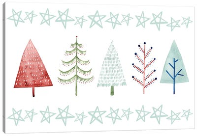 Christmas Tree Whimsy Collection C Canvas Art Print