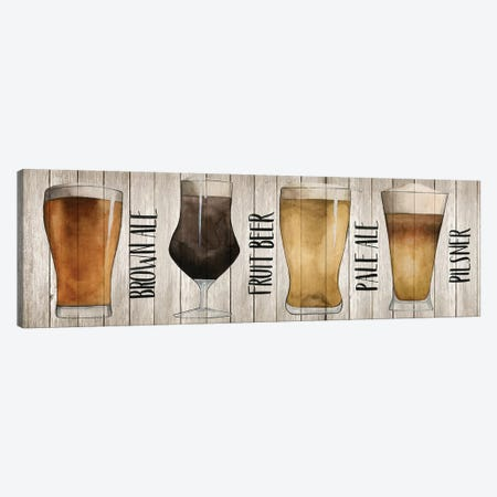 Beer Chart I Canvas Print #POP165} by Grace Popp Canvas Artwork