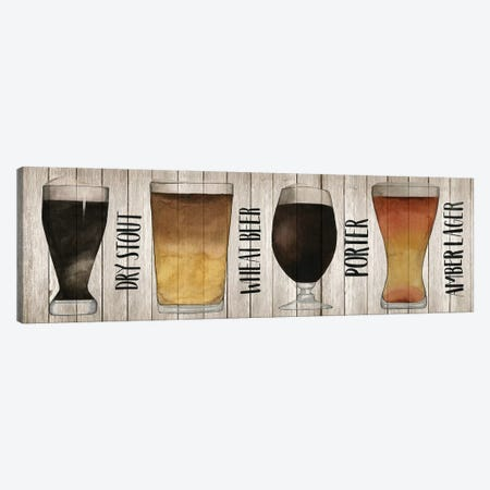 Beer Chart II Canvas Print #POP166} by Grace Popp Canvas Art