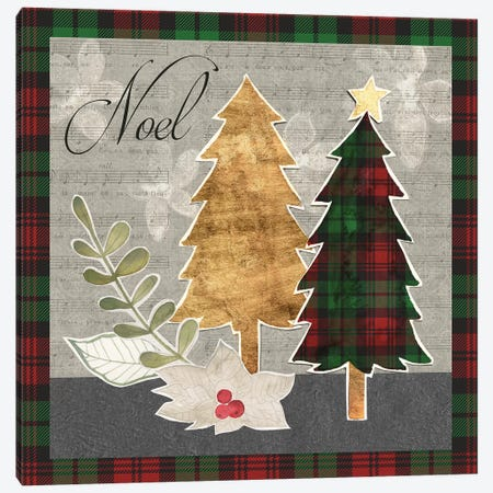Collaged Christmas Collection B Canvas Print #POP1672} by Grace Popp Canvas Wall Art