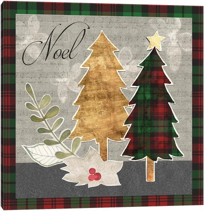 Collaged Christmas Collection B Canvas Art Print