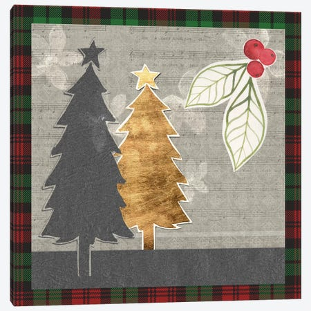 Collaged Christmas Collection C Canvas Print #POP1673} by Grace Popp Canvas Art