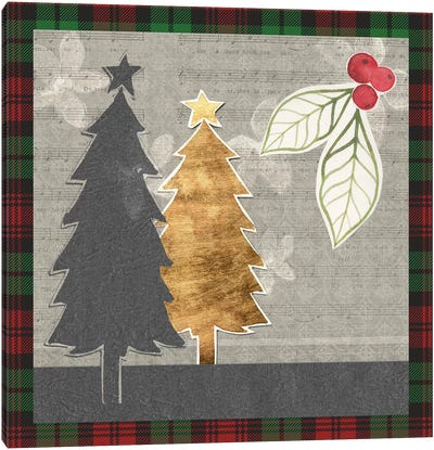 Collaged Christmas Collection C Canvas Art Print