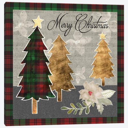 Collaged Christmas Collection D Canvas Print #POP1674} by Grace Popp Art Print