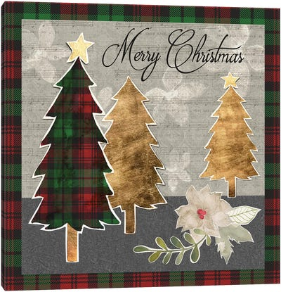 Collaged Christmas Collection D Canvas Art Print