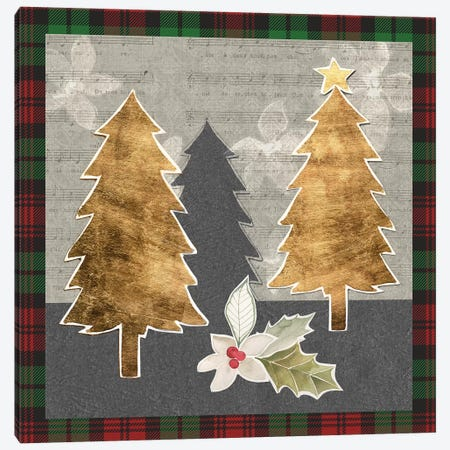 Collaged Christmas Collection E Canvas Print #POP1675} by Grace Popp Canvas Print