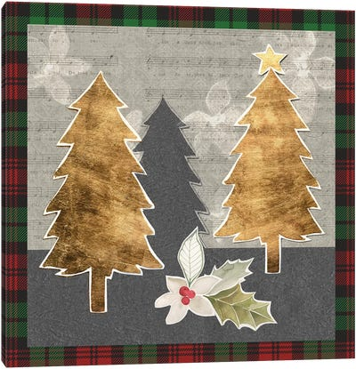 Collaged Christmas Collection E Canvas Art Print