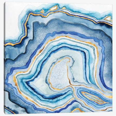 Cobalt Agate I Canvas Print #POP167} by Grace Popp Canvas Wall Art