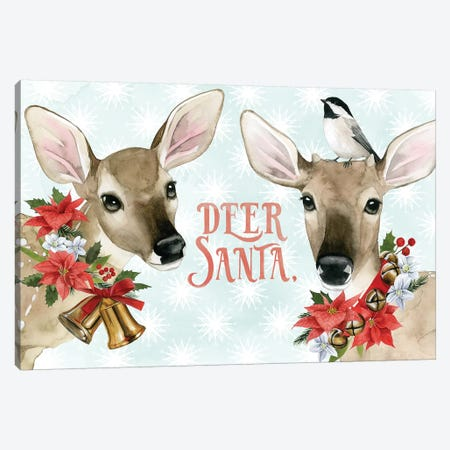 Deer Christmas Collection A Canvas Print #POP1686} by Grace Popp Canvas Artwork
