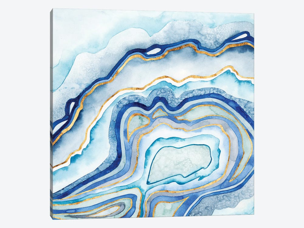 Cobalt Agate II by Grace Popp 1-piece Canvas Art Print