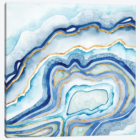 Cobalt Agate II 3-Piece Canvas #POP168} by Grace Popp Canvas Print