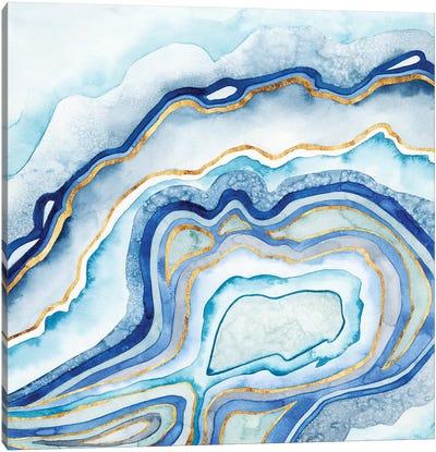 Cobalt Agate II Canvas Art Print