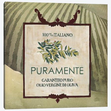 Olive Oil Labels III Canvas Print #POP16} by Grace Popp Canvas Art Print