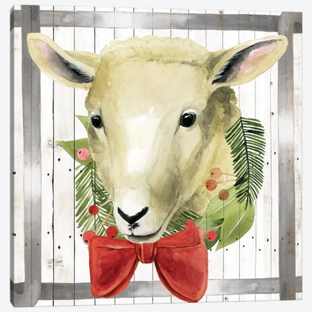 Festive Farm Collection E Canvas Print #POP1700} by Grace Popp Canvas Art
