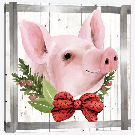 Festive Farm Collection F Canvas Print #POP1701} by Grace Popp Canvas Wall Art