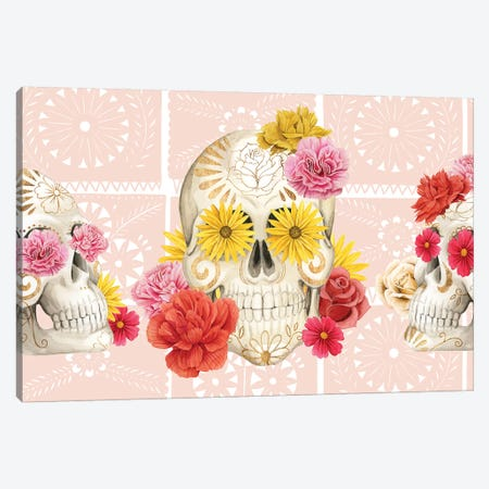 Fiesta de la Vida Muertos Collection D Canvas Print #POP1707} by Grace Popp Art Print