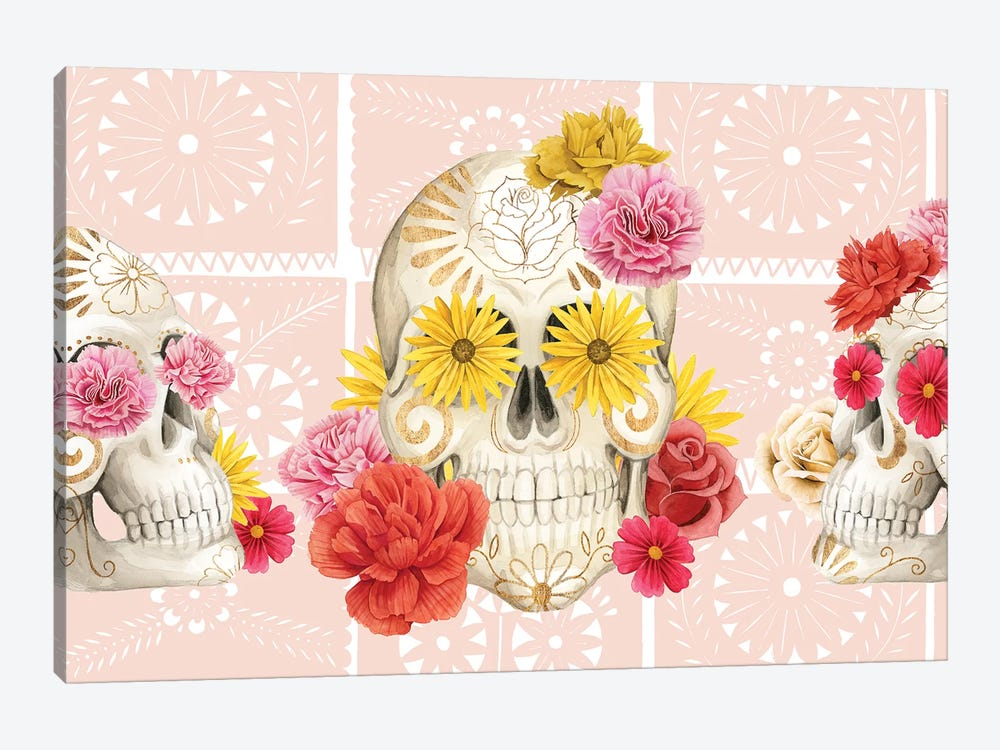 Fiesta de la Vida Muertos Collection D by Grace Popp 1-piece Canvas Print