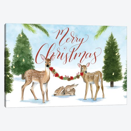 Forest Christmas Collection D Canvas Print #POP1714} by Grace Popp Canvas Wall Art