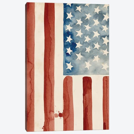 Fourth of July Collection B 3-Piece Canvas #POP1718} by Grace Popp Canvas Print