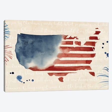 Fourth of July Collection C Canvas Print #POP1719} by Grace Popp Canvas Print