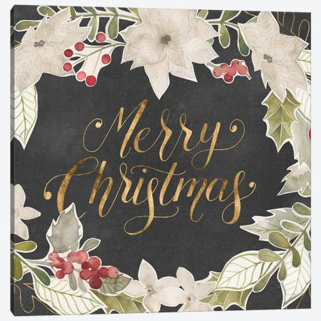 Gilded Christmas Collection A Canvas Print #POP1720} by Grace Popp Canvas Artwork