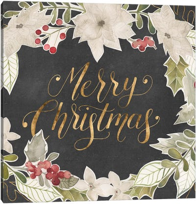 Gilded Christmas Collection A Canvas Art Print