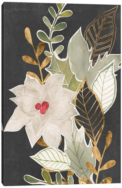 Gilded Christmas Collection B Canvas Art Print
