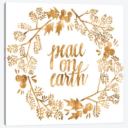 Golden Christmas II Canvas Print #POP1728} by Grace Popp Canvas Wall Art