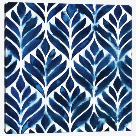 Cobalt Watercolor Tiles IV Canvas Print #POP172} by Grace Popp Canvas Art