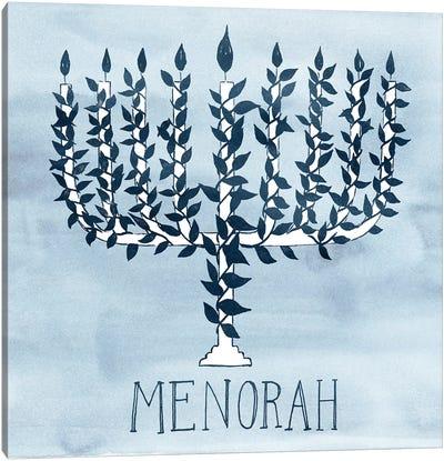 Happy Hanukkah Collection A Canvas Art Print