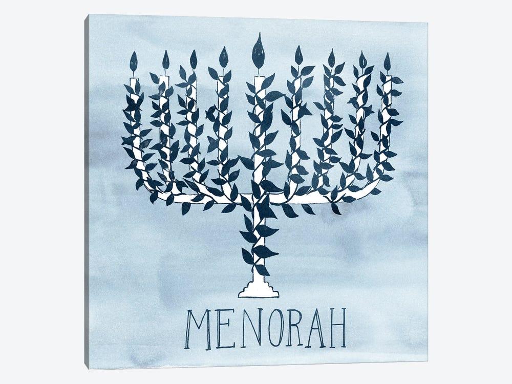 Happy Hanukkah Collection A by Grace Popp 1-piece Canvas Art