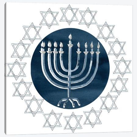 Happy Hanukkah Collection F Canvas Print #POP1734} by Grace Popp Canvas Artwork