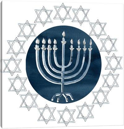 Happy Hanukkah Collection F Canvas Art Print
